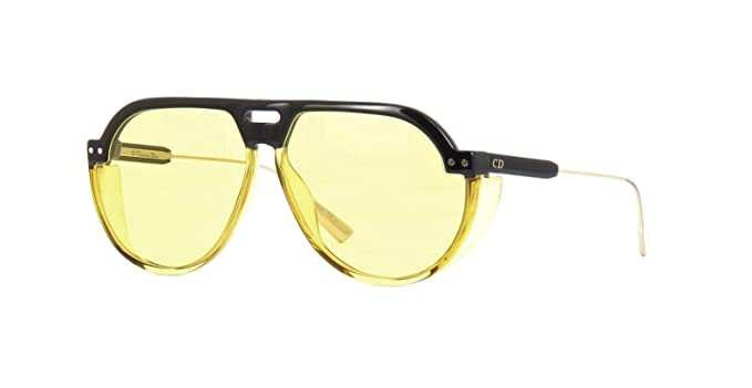 8c5171960f Image Unavailable. Image not available for. Color  Authentic Christian Dior  Club 3 071C HO Black Yellow Sunglasses