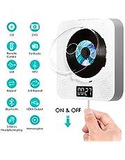 Bluetooth DVD CD Player, SAWAKE tragbar DVD Spieler an der Wand montierbaren mit HDMI / Fernbedienung / Timing-Funktion / FM-Radio / HiFi-Lautsprecher, unterstützt USB / 3,5 mm AV-AUX Ein-Ausgang