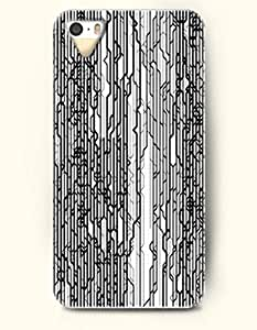 SevenArc Phone Skin Apple iPhone case for iPhone 5 5s ( 5C EXCLUDED ) -- Black and White Geometric Pattern