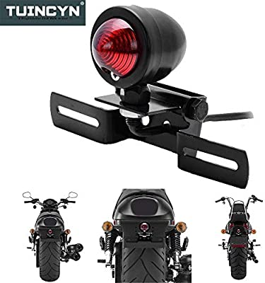 TUINCYN Motorcycle Turn Signals Light Bulb Black Anodized Aluminum Motor Indicator Light Blinker Lamp Mounting DC 12V . 4pcs
