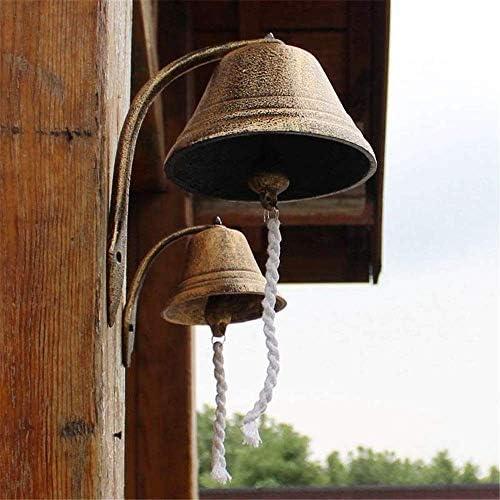 装飾ドアベルクラシック素朴な金属ウォールマウントドアコールベル大農家スタイル鋳鉄ディナーベル風鈴屋内屋外装飾用