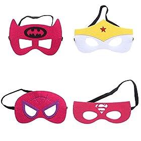 - 51KhH8PiGRL - Zaleny Superhero Dress up Costumes – 4 Satin Capes and 4 Felt Masks
