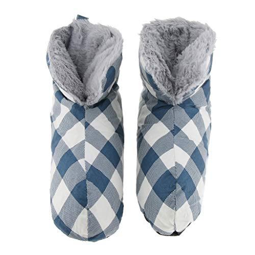 Fityle S M Bianco Invernali Per Caldo Campeggio Pantofole Casa Calzature Piede S Viola Stivaletti Duck All'interno Donne Soft Blu Uomo F dRpUzd