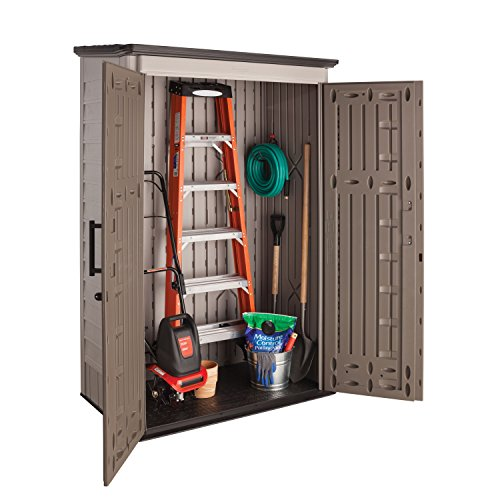 Rubbermaid Plastic Large Vertical Outdoor Storage Shed 52