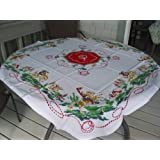 At The Ranch Western Vintage Cowboy Tablecloth
