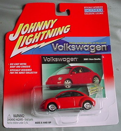 Playing Mantis Johnny Lightning Volkswagen 2001 New Beetl...