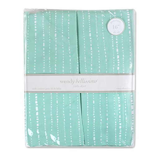 Wendy Bellissimo Crib Skirt (Teal/White) by Wendy Bellissimo