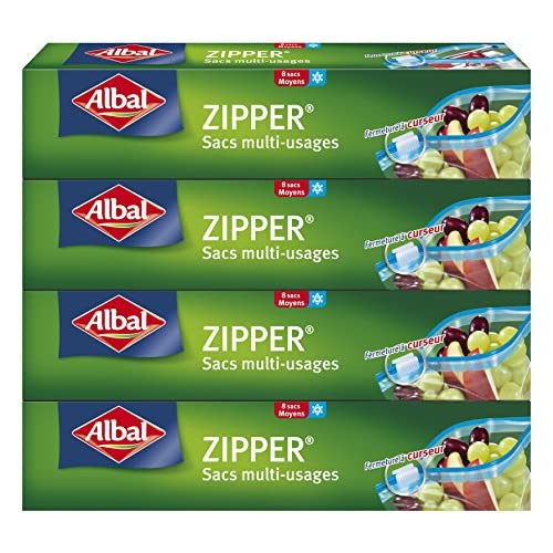 chollos oferta descuentos barato Albal 8 bolsas multiusos Cursor Zipper hermética Juego de 4 cajas 3 L