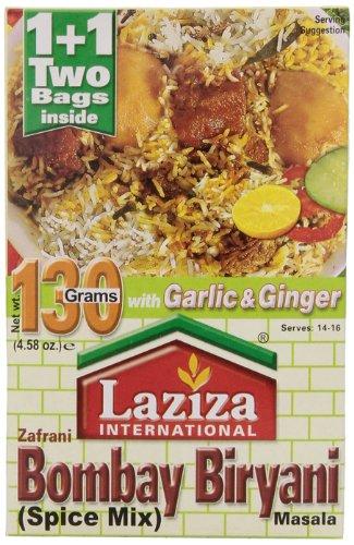 Laziza Bombay Biryani Masala, 130-Gram Boxes (Pack of 6) by Laziza