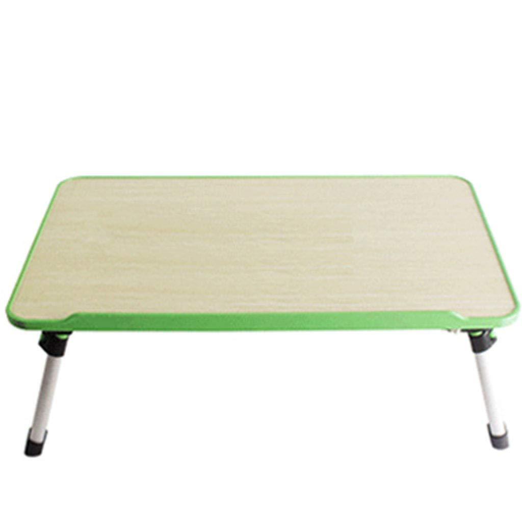 コンピュータデスクノートブックテーブルコンピュータテーブルベッド寮スタジオ冷却折りたたみ自宅のコンピュータデスク (色 : Purple, サイズ さいず : Have a fan) B07KTXQYN9 Green Fanless Fanless|Green