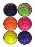 Radiant Vivid Disco Cake SET (6 colors) 5g each bottle,cakes, cupcakes, fondant, decorating, cake pops By Oh! Sweet Art
