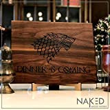Game of Thrones Cutting Board - Game of Thrones Gift, Game of Thrones Merchandise, Boyfriend Gift, Walnut Wood Cutting Board Handmade in the USA - Winter is Here, Dinner is Coming