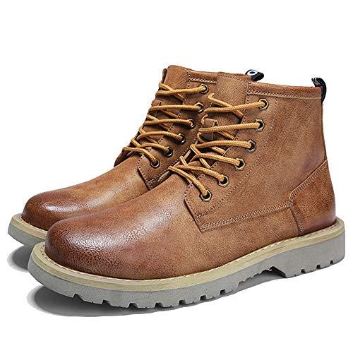 Stivaletti Uomo Intelligente del A Martin Commerciante Sicurezza Brown Vintage Tondi Stivali Punta Stivali Chelsea di Casual Stivali da FfBq85xwn4