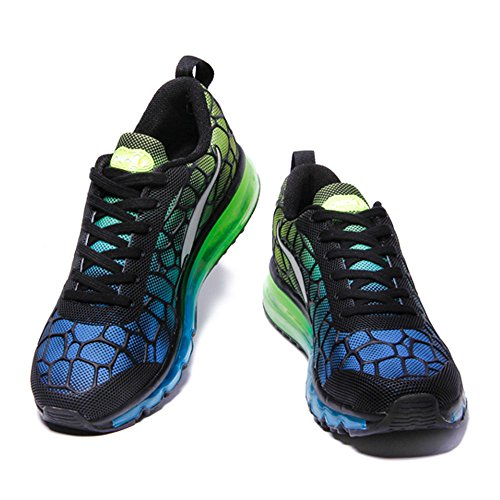 Air De Sport Femmes Respirantes Chaussures Unisexe Hommes Baskets Vert Skyblue Marche Sneakers Adulte Onemix Epxv4wCqn