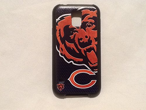 Chicago Bears Rugged Case for Samsung Galaxy S 5 Cell Phones - Black/Burnt Orange/Navy Blue/White