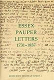 Essex Pauper Letters, 1731-1837 9780197262429