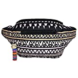 Native Tribal Aztec Party Fanny Pack, Stylish Party Boho Chic Handmade w/Hidden Pocket (Mayan Ascent)