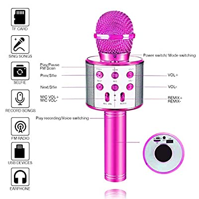 SEPHIX Kids Toys for 5-12 Years Old Girls Gifts, Portable Bluetooth Karaoke Microphone for Kids Singing Toys Age 5-10, Christmas Birthday Gifts for 5 6 7 8 9 Year Old Girls Toys Age 6 7 8 9 Children : Clothing