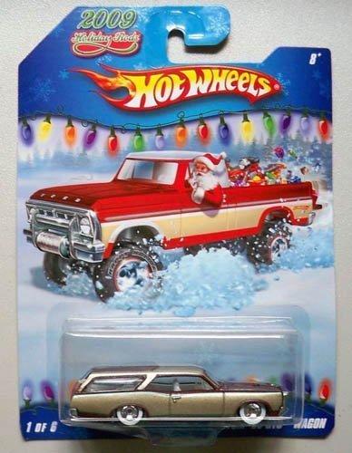 Hot Wheels 2009 Holiday Rods #1/6 - Maroon/Gold Custom '66 GTO Wagon (Hot Rod Gto)