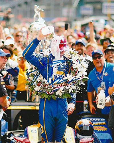 ALEXANDER ROSSI signed 8x10 INDY 500 MILK photo IRL INDY with COA C - Autographed Extreme Sports Photos ()