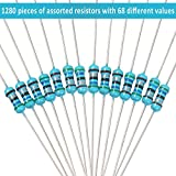 1280 Pieces 64 Values Resistor Kit, 1% Assorted
