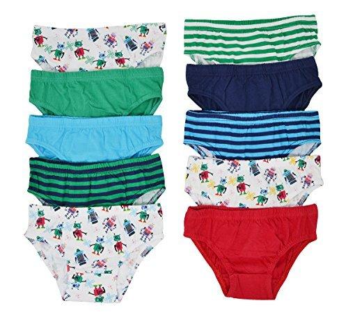 Hari Deals niños Infantil 100% Calzoncillos Algodón Ropa Interior Slips Pantalones Paquete DE 10 -