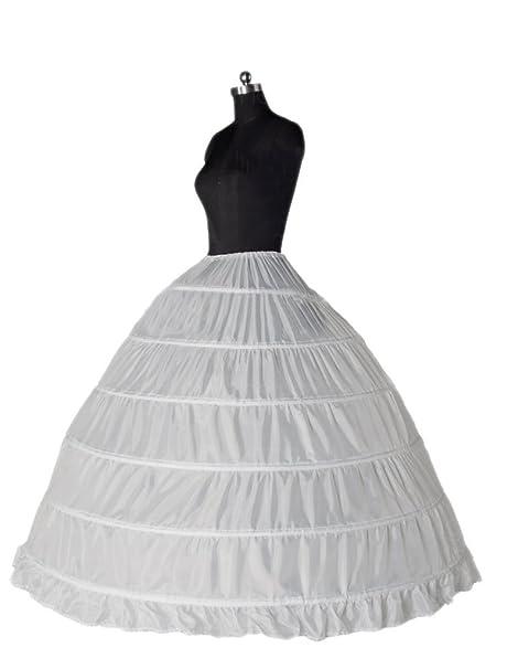 Clocolor A-Line Mujer Enagua Miriñaque Blanca de la boda accesorios de la boda Enagua Falda paseo nupcial de 6 aros vestido de novia: Amazon.es: Ropa y ...