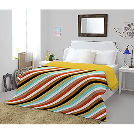 Spaces Allure Cotton Comforter Queen Size Yellow And Ochre