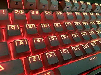 Amazon com: 104 Keys Light Ring Halo Backlit Keycaps