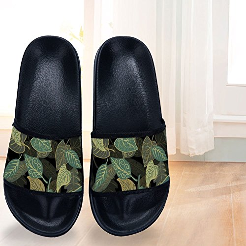 Non Buteri Mens Quick Womens Leaves Vacation Drying B Slippers Slip Slippers Sww7tq