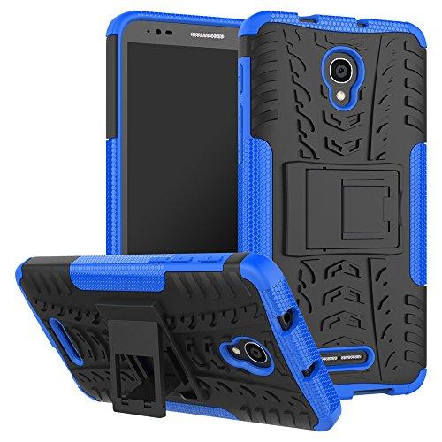 Slim Armor Hard Case for Alcatel Flash Plus (Blue) - 1