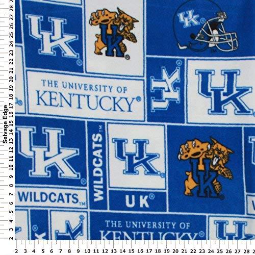 College University of Kentucky Wildcats 012 Print Fleece Fabric By the Yard