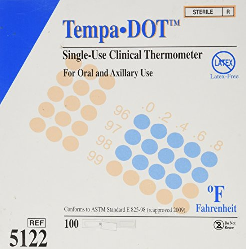 Strips Temp - Tempa-dot Disposable Thermometer Sterile, 100 Count