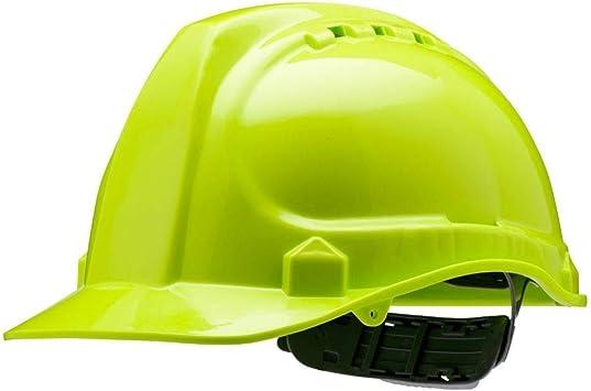 Protective Safety Helmet Construction Cap Hat Adjustable Ratchet Equipment Green