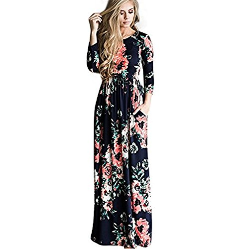 Wa-Sway Women's Line Striped Sleeveless Tank Casual Stretch Maxi Long Dress (Dress Sleeveless Stretch)