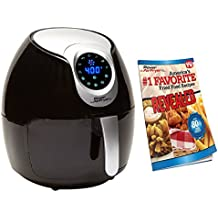 Power Air Fryer XL - 3.4 QT, Black Electric Programmable AirFryer For Healthy Fried Food With Less or No Oil, 7 One Touch Presets For Your Favorite Recipe