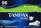 Tampax Pearl Unscented Super Absorbency Tampons, 96 Count (Pack of 5)