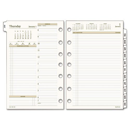 Day Runner PRO Recycled Two-Pages-Per-Day Planning Pages, 5-1/2 x 8-1/2 Inches, 2010 (481-225-10) (Day Daily Planner Runner)