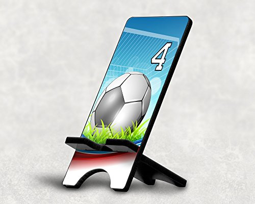 Cell Phone Stand Soccer Ball Red White Blue Any Custom Jersey Number 4 Blue Strike Jerseys