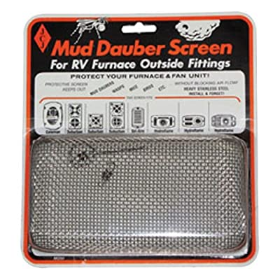 JCJ M-200 Mud Dauber Screen for RV Furnace Outside Fitting: Automotive
