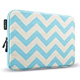 Runetz - 13-inch Chevron Aqua Soft Sleeve Case for NEWEST MacBook Pro 13' & MacBook Air 13' Laptop Cover - Chevron Aqua Blue