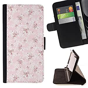 Momo Phone Case / Flip Funda de Cuero Case Cover - Wallpaper rosa del modelo del vintage - Samsung Galaxy S6 Edge Plus / S6 Edge+ G928