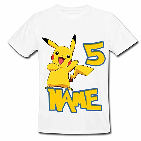 521c8b65 Sprinklecart Pokemon Birthday T Shirt | 5th Birthday Custom Name Printed  Wear for Your Kid (