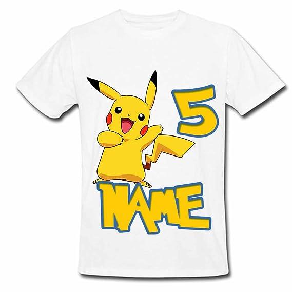 521c8b65 Sprinklecart Pokemon Birthday T Shirt | 5th Birthday Custom Name Printed  Wear for Your Kid (