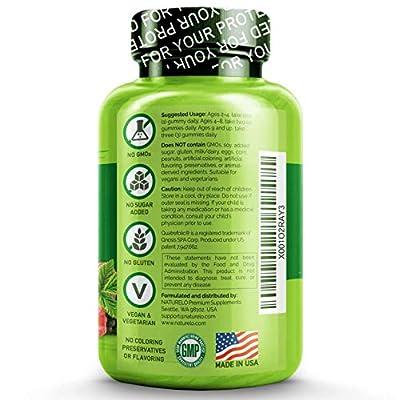 NATURELO Whole Food Vitamin Gummies for Kids - Best Chewable Gummy Multivitamin for Children - Organic Great Tasting Berry Flavor - Non-GMO - All Natural Vitamins & Minerals - 90 Gummies