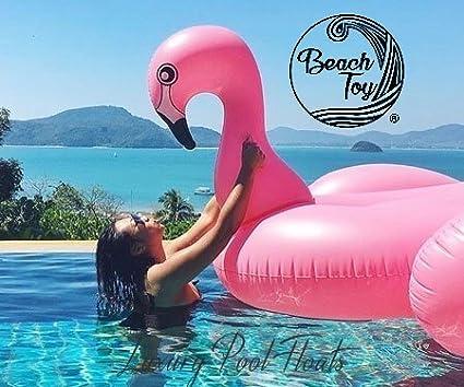 Beach Toy® - Flotador hinchable FLAMENCO gigante. Talla XXL: 190 x 200 x 130 cm: Amazon.es: Juguetes y juegos