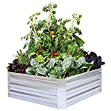 Galvanized Raised Garden Beds for Vegetables Metal Planter Boxes Outdoor Flower Bed Kit Steel Patio