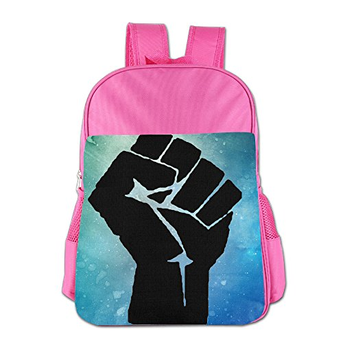 [JXMD Custom Black Power Boys&Girls Schoolbag For 4-15 Years Old Pink] (Iron Fist Costumes For Kids)
