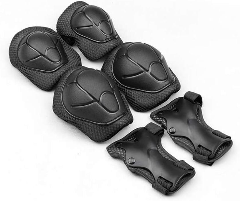 Protecciones Para Patinaje Patines En Línea Bicicletas Bmx Monopatines Kit Protector Con Óptima Regulación De Ajuste y Un Agarre Firme Para Niños y Adultos 3-10 Años