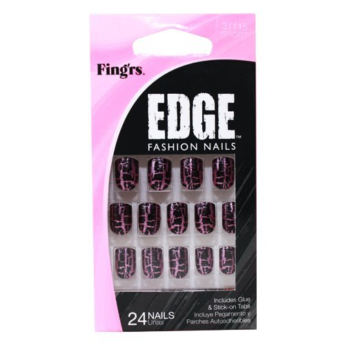 - Fing'rs Edge Nails Fashion Styles - Pack of 24 Nails